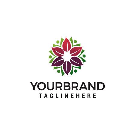 spa cosmetic flower logo for beauty salon logo design concept template vector