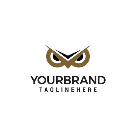 Owl Eye logo design concept template vector