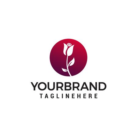 spa cosmetic flower logo design concept template vector
