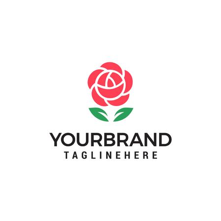 Rose flower logo design concept template vector Logo