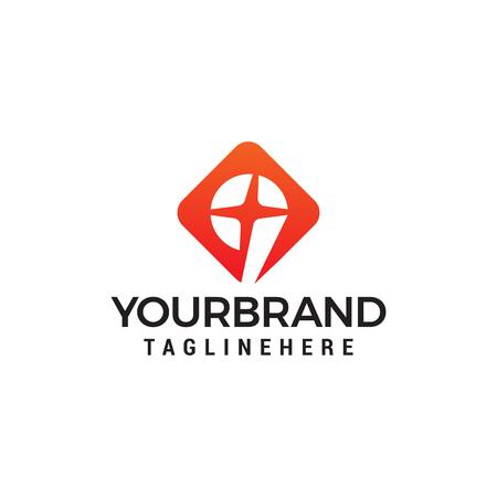 number 9 star logo design concept template vector