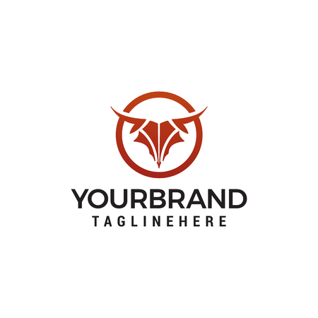 abstract Bull head logo design concept template vector 版權商用圖片 - 121297317
