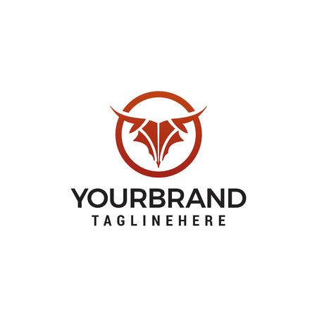 abstract Bull head logo design concept template vector Illustration