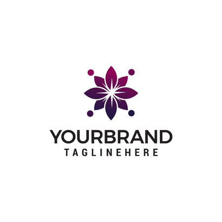 abstract flower spa cosmetic logo design concept template vector Illustration
