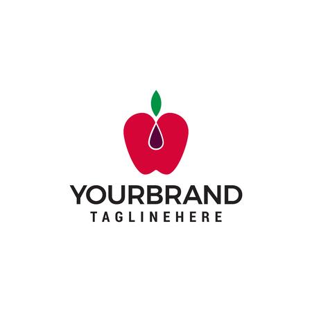 Apple fruit logo design concept template vector Illustration