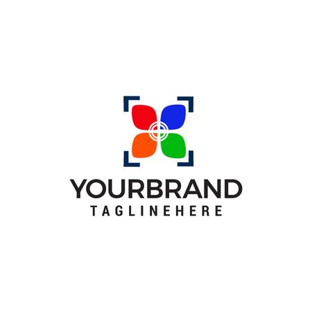 camera photography shoot logo design concept template vector