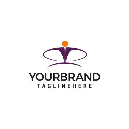 business person logo design concept template vector 矢量图像