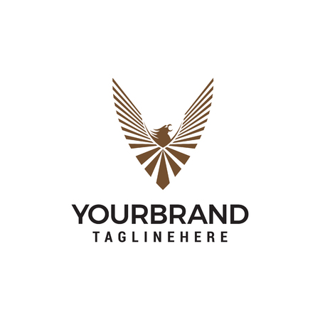 eagle logo design concept template vector Illustration