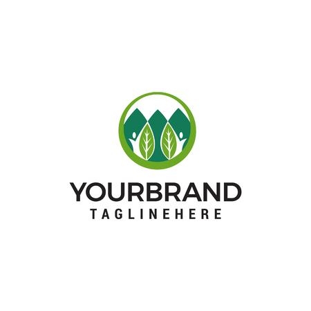 ecology logo design concept template vector Logo