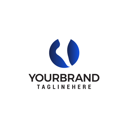 foot and care logo design concept template vector