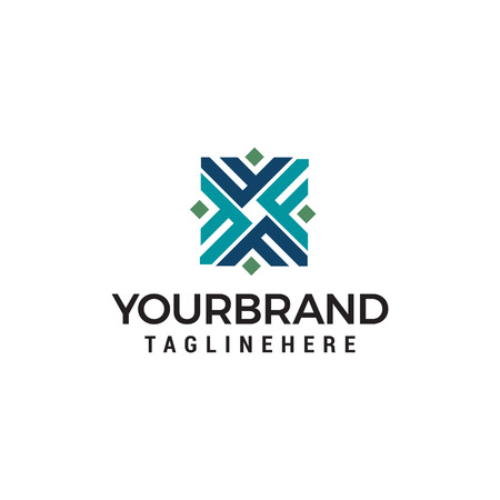 lettera iniziale F Logo design concept template vector