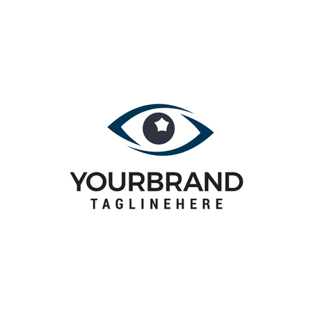 glasses eye logo design concept template vector Illustration