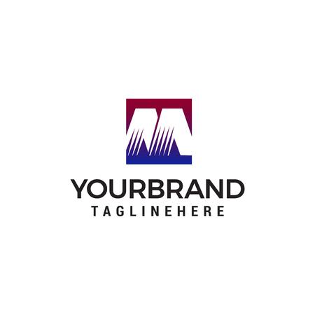 Letter M logo design concept template vector Ilustração