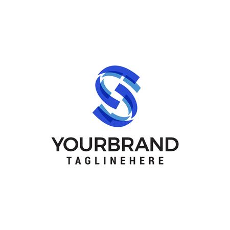 letter s technology logo design concept template vector