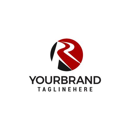 letter r logo design concept template vector Illustration