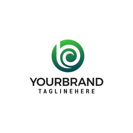 letter b logo design concept template vector