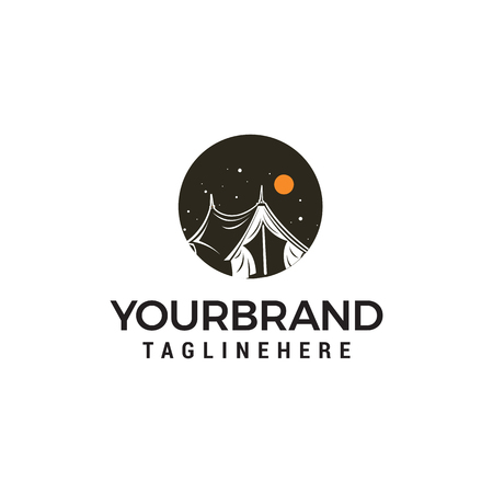 Camping outdoor logo design concept template vector Banque d'images - 121785125