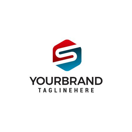 letter s logo design concept template vector Illusztráció