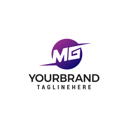 letter MG logo design concept template vector Illustration