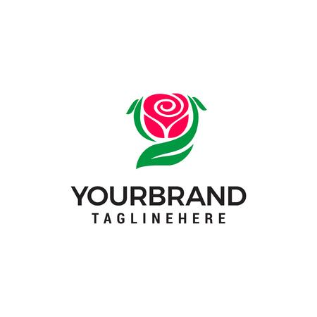 rose logo design concept template vector
