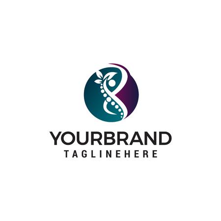 body care logo design concept template vector Illustration