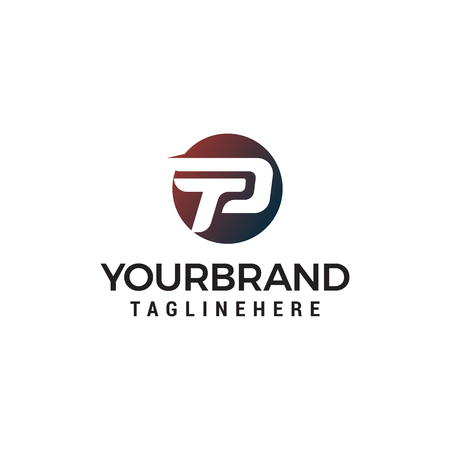 letter p logo design concept template vector