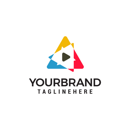 triangle Smart Media Logo design concept template vector Illustration