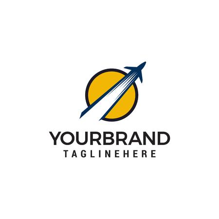 Flugzeug Logo Design Konzept Vorlage Vektor