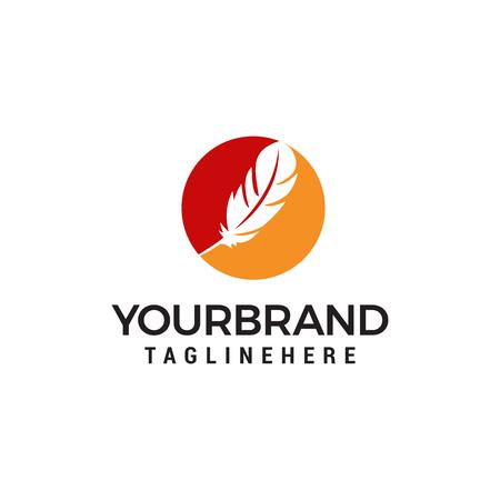 plume logo design concept template vecteur Logo