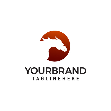 horse logo design concept template vector