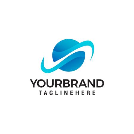 globe Communication logo design concept template vector