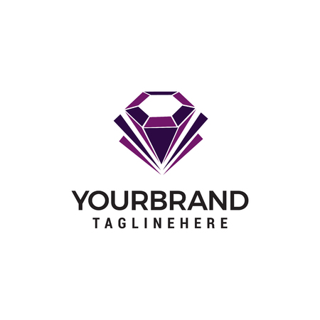 diamond jewelry logo design concept template vector 向量圖像