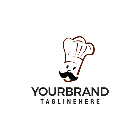 chef logo design concept template vector Stock Illustratie