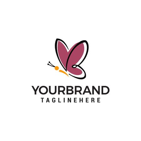 butterfly logo design concept template vector