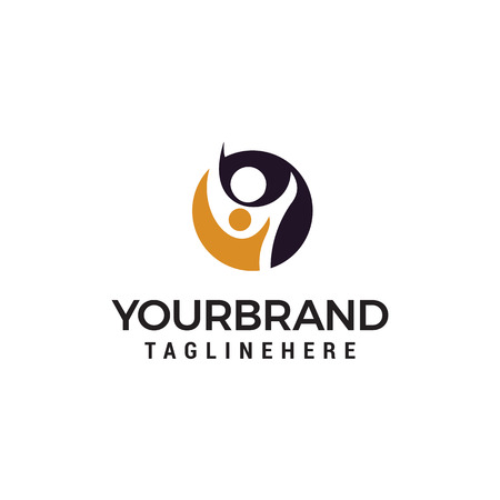 people care logo design concept template vector Illustration