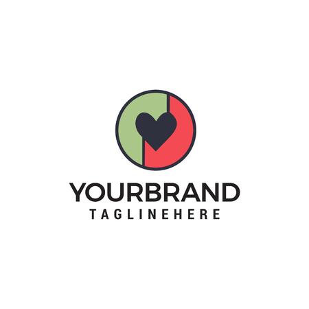 love logo design concept template vector