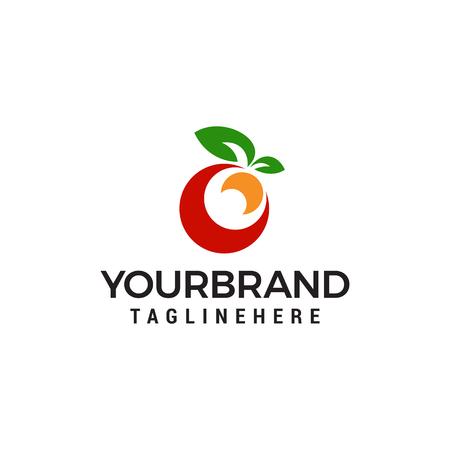 fruit logo design concept template vector