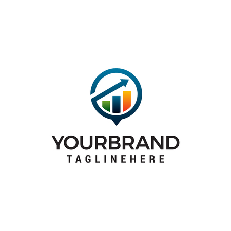 arrow Financial growth logo design concept template vector Ilustração