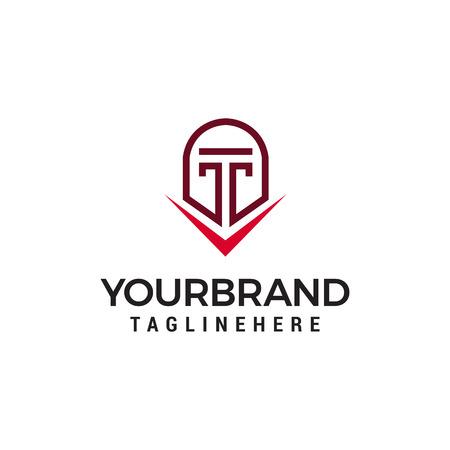 spartan helmet logo design concept template vector  イラスト・ベクター素材