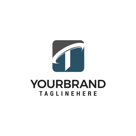 letter t company logo design concept template vector