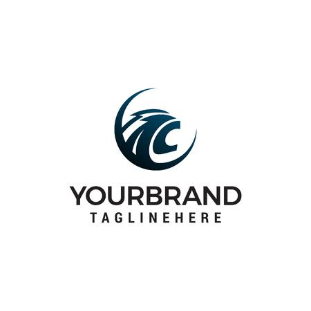 head panther logo design concept template vector