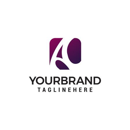 letter a logo design concept template vector Logo