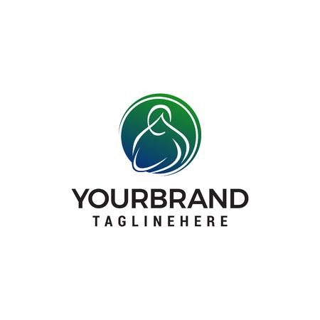 mother holding baby logo design concept template vector Logo