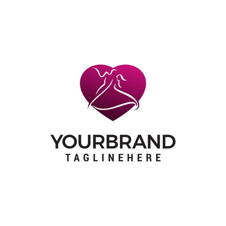 Dance logo design concept template vector