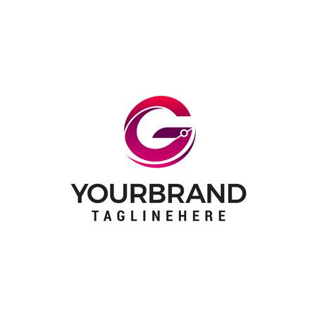 letter g logo design concept template vector