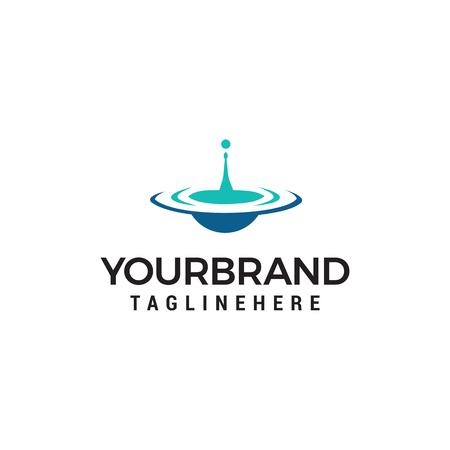 goutte d'eau logo design concept template vecteur