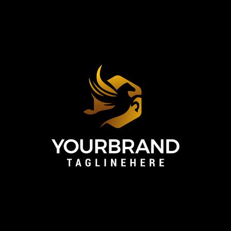 pegasus luxury logo design concept template vector