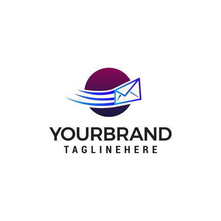 Message Envelope sent logo design concept template vector
