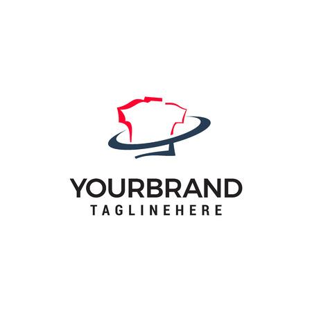 t shirt shop logo design concept template vector Illustration