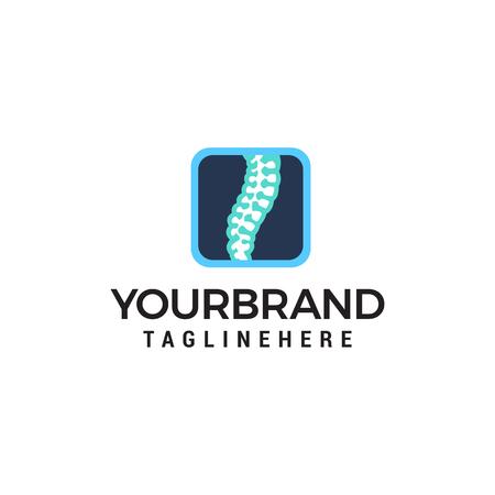 soins chiropratiques logo design concept template vecteur